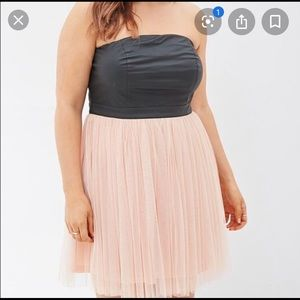 Forever 21 pink leather and tulle 2x